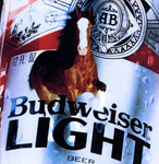 Budweiser Light Bar Mirror