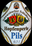 Hopfenperle Swiss Beer Vintage Mirrored Bar Clock