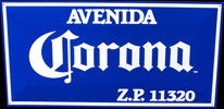 Corona Avenida Tin Sign