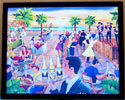 Corona Beach Scene Cafe Framed Print