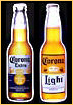 Set of 2 Corona Extra & Corona Light Beer Bottle Tin Signs