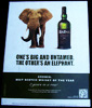 Ardbeg Single Islay Malt Scotch Whisky and Elephant NEW Tin Sign