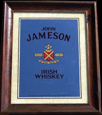 Jameson Established 1790 Irish Whiskey Bar Mirror