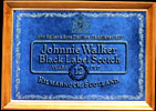 Johnny Walker Black Label Scotch Whisky Vintage NEW Smoked Glass Bar Mirror