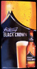 Budweiser Black Crown Beer NEW Tin Bar Sign