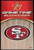 Budweiser San Francisco 49ers Tin Sign