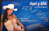 Bud Light Map of Mexico with Cowgirl Tin Sign