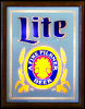 Miller Lite Beer Illuminated Reflective Glass Plaque