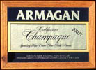 Armagan California Champagne Oak Framed Vintage Reflective Glass Plaque Bar Mirror