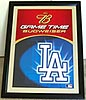 Budweiser Los Angeles Dodgers Beveled Glass Mirror