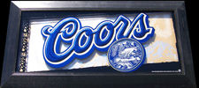 Coors Beer 3D Style Reflective Glass Plaque